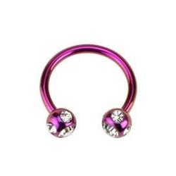 Piercing fer à cheval 10 x 1,2mm violet Narn FER001