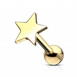 Piercing tragus avec une étoile doré Bikaw