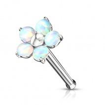Piercing nez droit avec une fleur en opaline blanche Suxik Piercing nez5,90€