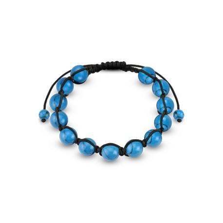 Bracelet Shamballa avec perles turquoise Casux BRA041
