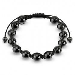 Bracelet Shamballa orné de boules métalliques hématite Tyxcu BRA043