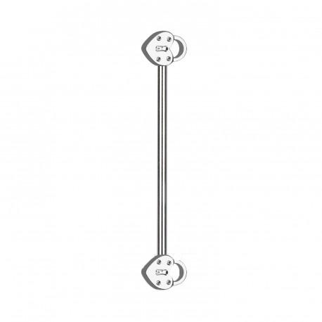 Piercing industriel de 32mm avec deux cadenas Fuko IND131