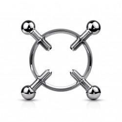 Faux piercing téton couronne avec 4 vis Daqik