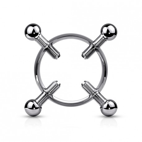Faux piercing téton couronne avec 4 vis Daqik TET114