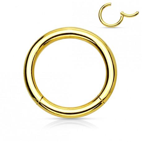 Piercing anneau 12 x 1,2mm à segment doré Gadex ANN025