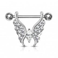 Piercing téton papillon orné de crystals blanc Muy Piercing téton5,90€