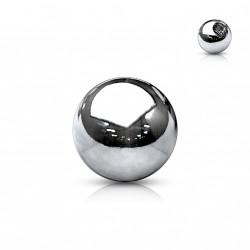 Boule acier pour piercing diamètre 4mm x 1,6mm Kaqox LAN065