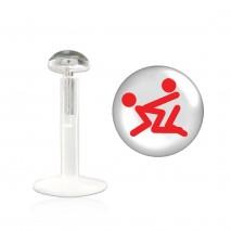 Piercing labret lévre logo x Adau Piercing labret3,25€