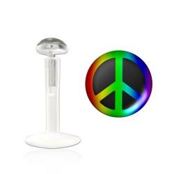 Piercing labret lévre peace Kamala LAB002