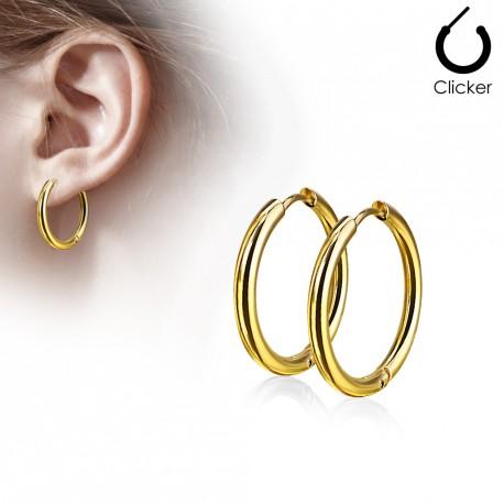 Boucle anneau oreille doré d'un diamètre 14mm Dopil ANN022