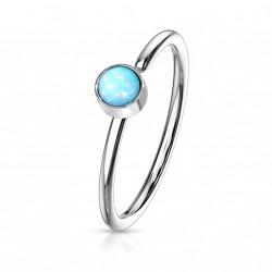 Piercing anneau acier 0,8 X 8mm en époxy bleu Oxay NEZ171