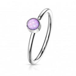 Piercing anneau acier 0,8 X 8mm en époxy violet Naxuk NEZ171