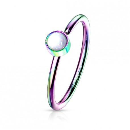 Piercing anneau arc en ciel 0,8 X 8mm en époxy blanc Sunox Piercing nez3,35€