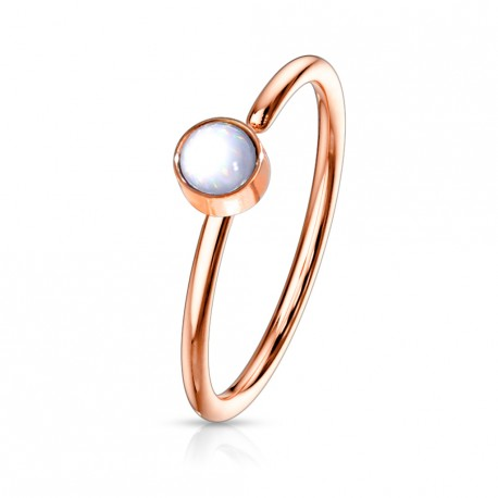 Piercing anneau or rose 0,8 X 8mm en époxy blanc Gaqy Piercing nez3,35€
