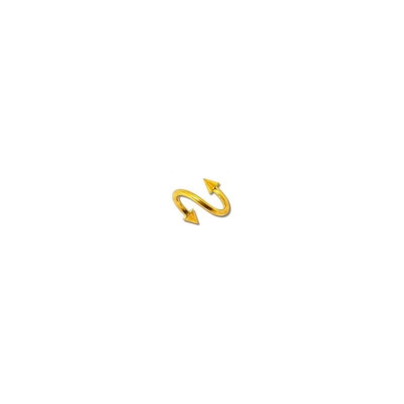Piercing spirale 8mm doré avec pointes Jirut Piercing oreille4,49€