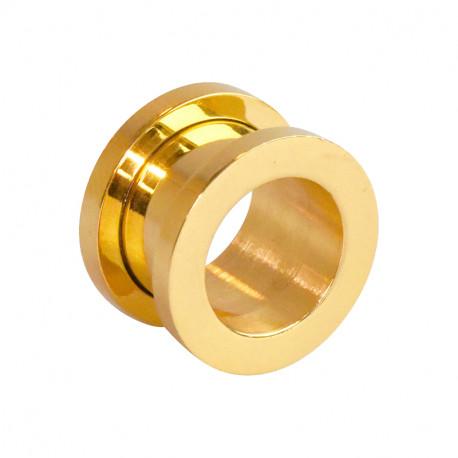 Piercing tunnel acier doré 20mm Lucda Piercing oreille9,10€