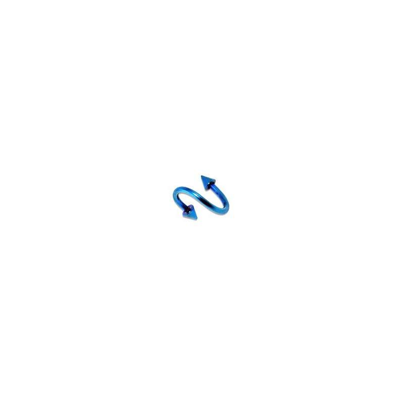 Piercing spirale 8 x 1,2mm bleu avec pointes 3mm Lya Piercing oreille4,49€
