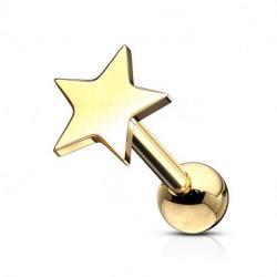 Piercing langue acier étoile doré Yazot Piercing langue4,85€