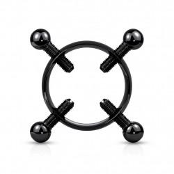Faux piercing téton noir avec couronne et 4 vis Daik Faux piercing4,89€