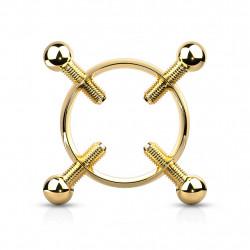 Faux piercing téton doré avec couronne et 4 vis Duko Faux piercing4,89€