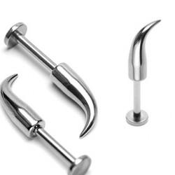 Piercing labret de 10mm avec long pic de 12mm Pahi Piercing labret3,90€