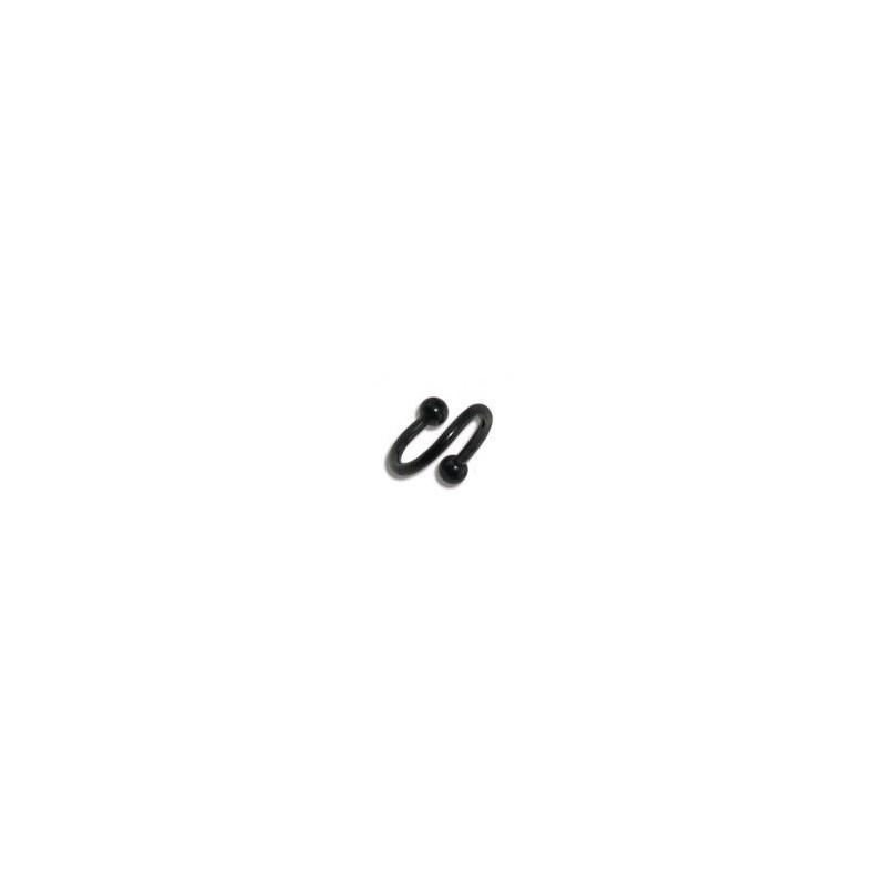 Piercing spirale 8mm noire et boules Kisy Piercing oreille4,49€