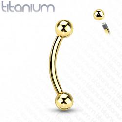 Piercing arcade doré titanium 8mm et boules de 3mm Qydu Piercing arcade5,49€