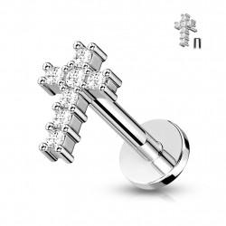 Piercing labret de 8mm en forme de croix Bokix Piercing labret4,49€