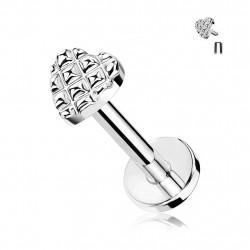 Piercing labret 6mm en forme de cœur Joxaf Piercing labret3,60€