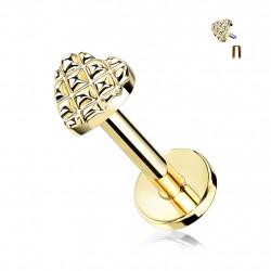 Piercing labret doré 6mm en forme de cœur Jiko Piercing labret3,70€
