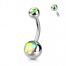 Piercing nombril boule acier avec pierres verte Koxa Piercing nombril4,95€