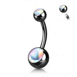 Piercing nombril boule noire avec pierres blanche Liko Piercing nombril4,95€