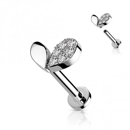 Piercing labret 6mm en forme de cœur Yaka Piercing labret3,60€