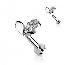 Piercing labret 8mm en forme de cœur Yiko Piercing labret3,60€