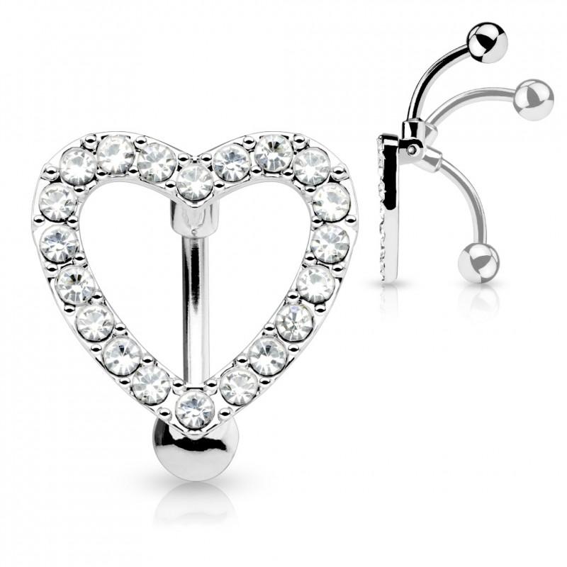 copy of Piercing nombril inversé coeur avec zirconiums blanc Aox Piercing nombril7,60€