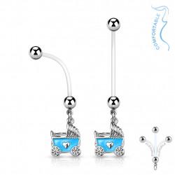 Piercing nombril grossesse poussette de bébé bleu Baxik Piercing nombril5,99€