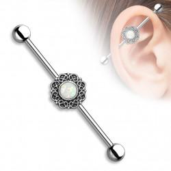 Piercing industriel style antique avec une opaline Foxy Piercing oreille5,60€