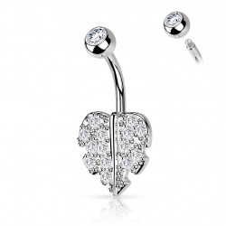 Piercing nombril cœur pavé de crystals blanc Casqy Piercing nombril4,95€