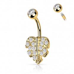 Piercing nombril doré cœur pavé de crystals blanc Xaxol Piercing nombril4,95€
