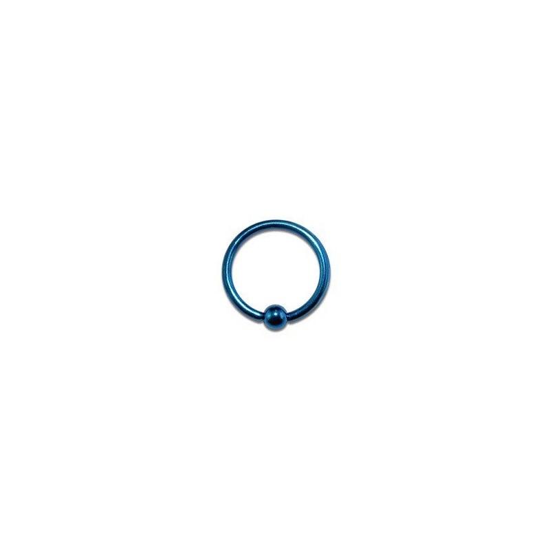 Piercing anneau 8 x 1,2mm bleu avec boule Komol Piercing oreille3,85€