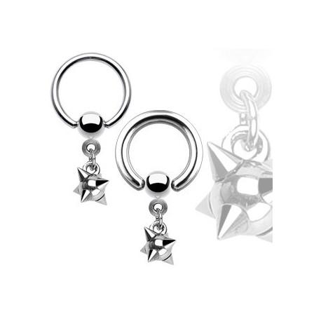 Piercing anneau 12 x 1,6mm boule à pointes Chy Piercing oreille5,90€