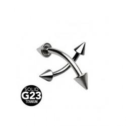 Piercing arcade pointes titane taille 10mm Sait ARC021